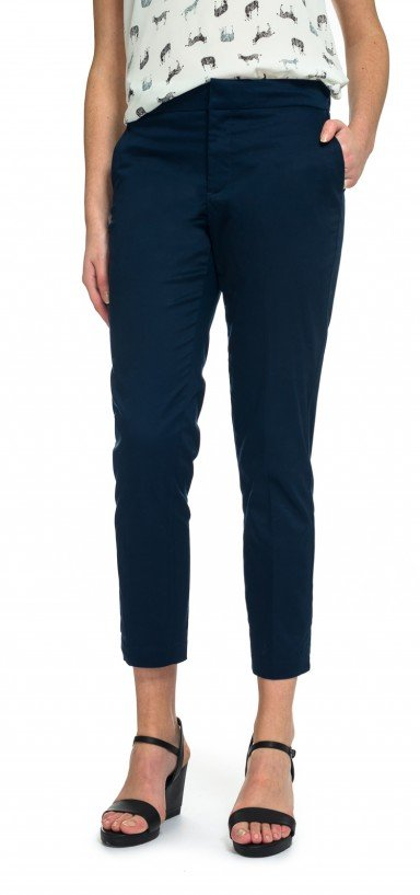 Ankle in blue cotton twill