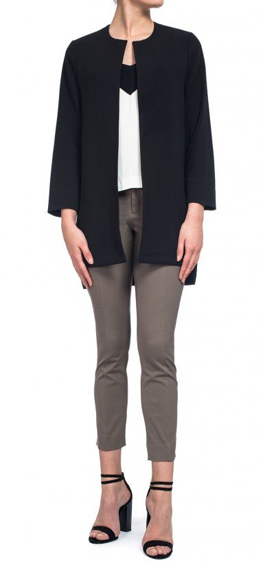 Ankle Pant in taupe bi-stretch