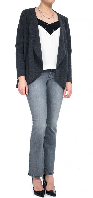Marilyn Straight in grey lightweight denim (Plus)