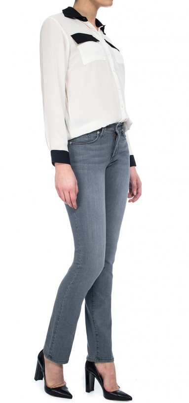 Sheri Skinny in grey lightweight denim (Plus)