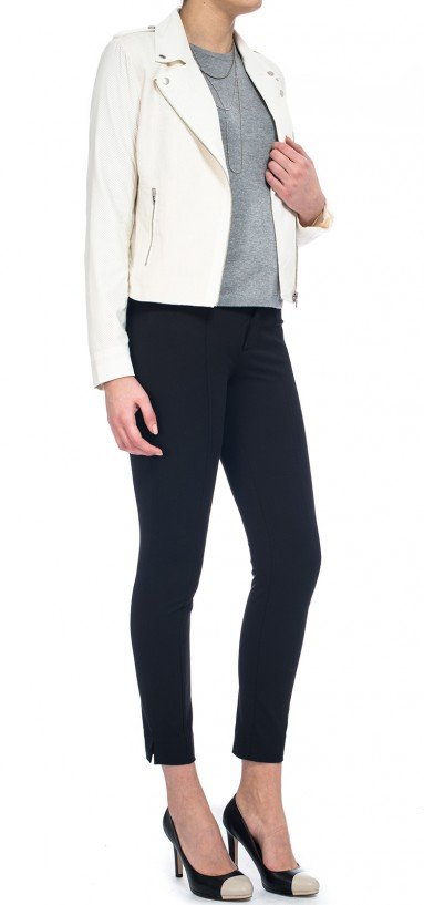 Ankle Pant in black bi-stretch