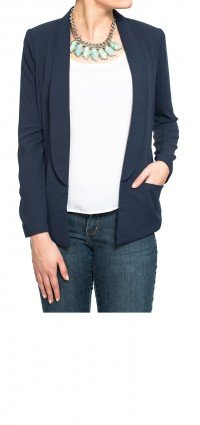 Figure fit blazer in navy blue