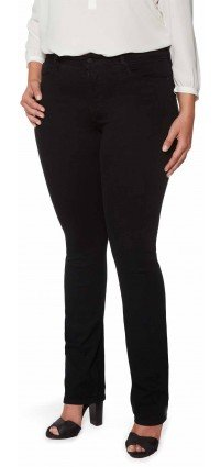 Sheri Skinny in black coloured denim (Plus)