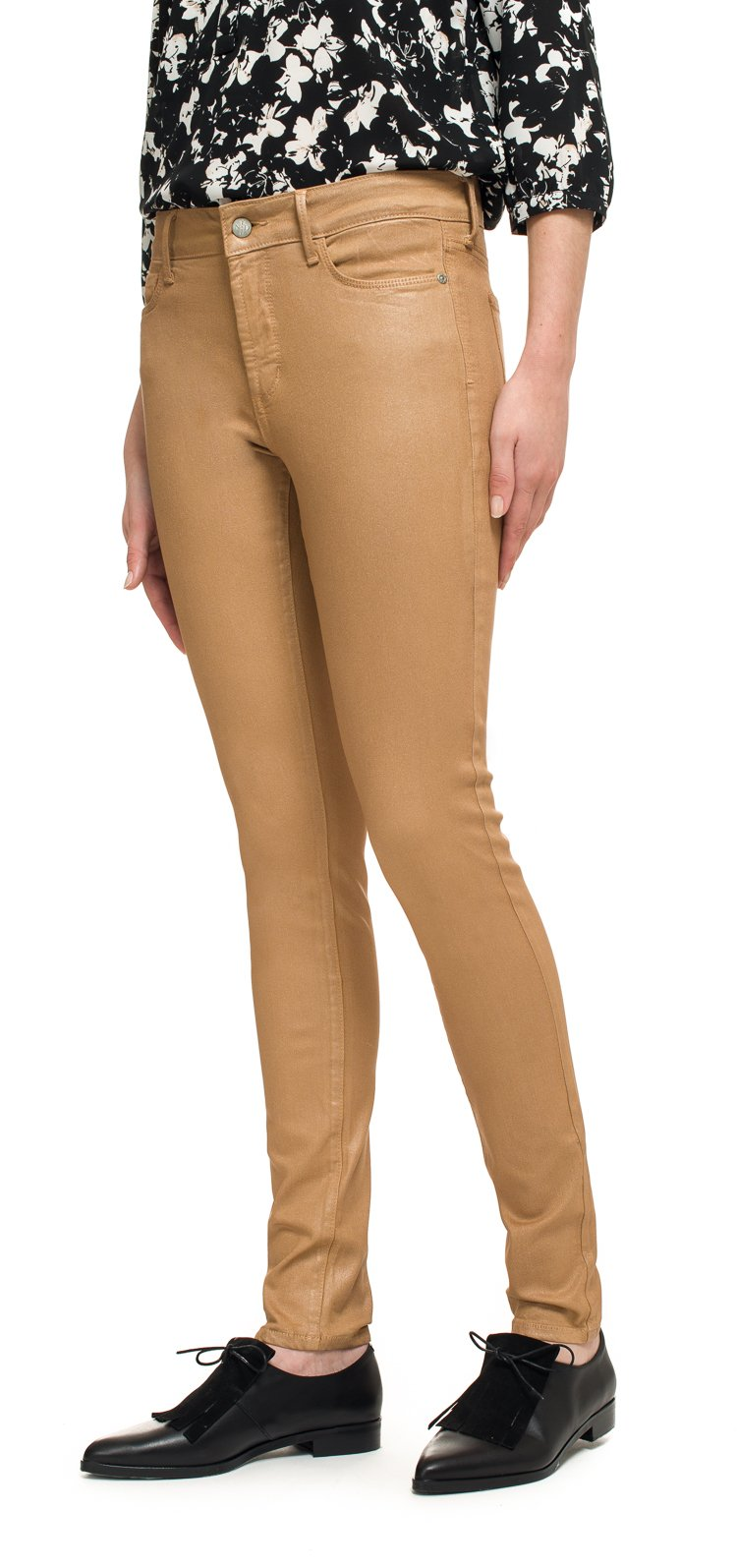 Image of NYDJ Jeans Ami Skinny Legging in rose gold coated denim Größe 34